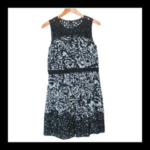 Ann Taylor Floral Lace Sleeveless Fit Flare Dress